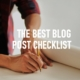 Best Blog Post Checklist